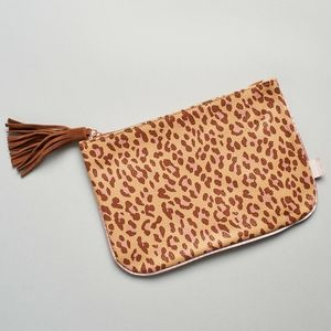 Ipsy leapard print makeup pouch